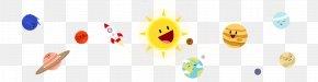 Cute Cartoon Solar System Planet Vector Material - Logo Brand Font PNG