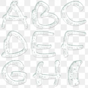 Droplets Creative Capital Letters - Letter Case All Caps PNG