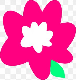 Pink Flowers Cartoon - Pink Flowers Cartoon Clip Art PNG