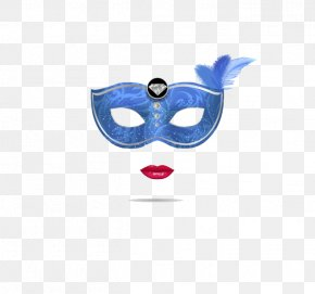 Blue Mask - Carnival Of Venice Mask Blue PNG