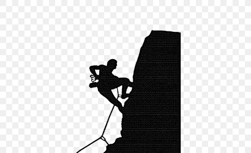 Rock Climbing Sport Illustration, PNG, 500x500px, Climbing, Black, Black And White, Bouldering, Climbing Wall Download Free