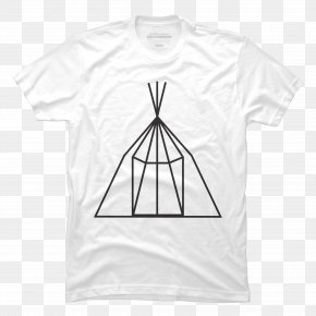 Teepee - T-shirt Clothing Sleeve White PNG