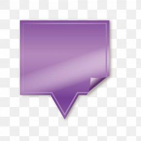 Purple Box - Purple Text Box Computer File PNG