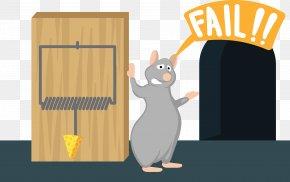 Cartoon Mouse - Rat Mousetrap Illustration PNG