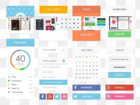 Beautifully Colored Candy UI Toolkit - User Interface Design Computer Program Flat Design PNG