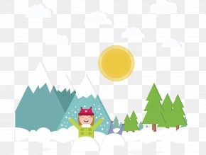 Vector Sun After The Snow - Snow Game PNG