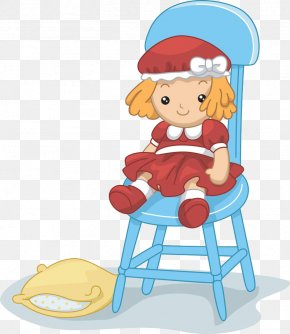 Toy Sitting On A Stool - Rag Doll Stock Photography Royalty-free Clip Art PNG