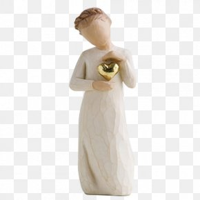 Willow Tree - Willow Tree Gold Figurine Sculpture PNG