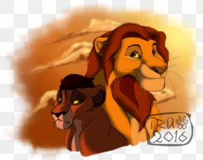 Lion - Lion Tiger Illustration Cartoon Desktop Wallpaper PNG