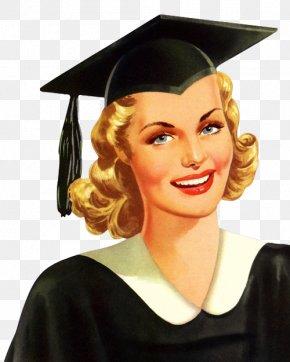 Graduation - Graduation Ceremony Academic Dress Square Academic Cap Diploma PNG