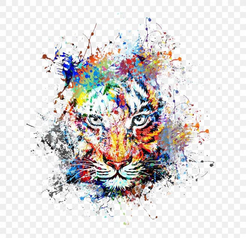 Abstract Art Painting Drawing, PNG, 997x966px, Tiger, Abstract Art, Art, Big Cats, Carnivoran Download Free