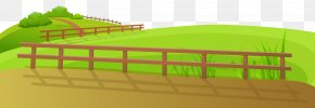 Grass Ground With Fence Clip Art Image - Fence Clip Art PNG