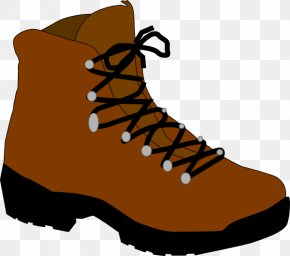Cartoon Shoe - Hiking Boot Camping Clip Art PNG