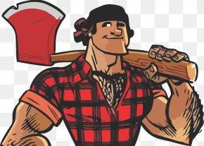 Axe - Paul Bunyan Lumberjack Cartoon PNG