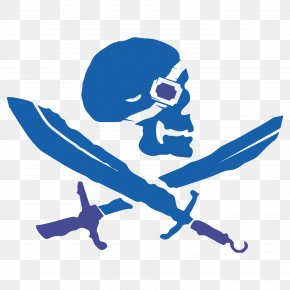 Treacherous - Piracy Blue Gauntlet Jolly Roger Clip Art PNG