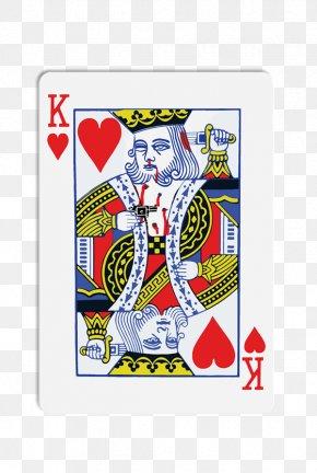 King - King Of Hearts Playing Card Roi De Cœur PNG