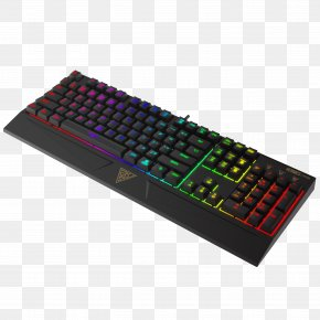 Keyboard - Computer Keyboard Gaming Keypad Backlight Electrical Switches RGB Color Model PNG