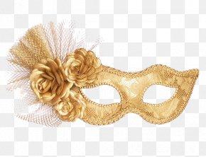 Mask - Masquerade Ball Mask Gold Harlequin Costume PNG