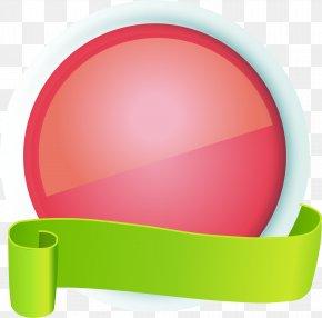 Hand Painted Red Circle Ribbon - Ribbon Download Icon PNG