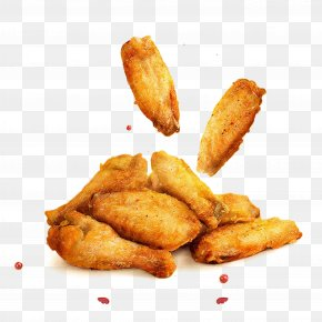 Golden Fried Chicken Wings - Hamburger Fried Chicken Buffalo Wing French Fries PNG