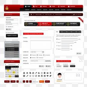 Red Exquisite Web Design - Web Design Web Template Web Button World Wide Web PNG