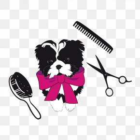Shearing Dog - Dog Puppy Comb Beauty Parlour PNG