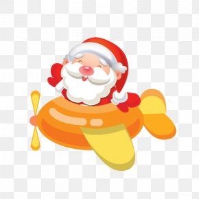 Santa Claus - Santa Claus Airplane Christmas Icon PNG
