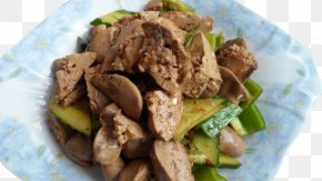 Healthy Home Cooking Cucumber Fried Chicken Liver - Fried Chicken Liver Soup Recipe PNG