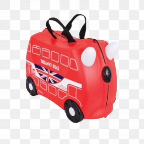 Red Bags - Bus New Routemaster Trunki Suitcase Hand Luggage PNG