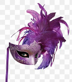 Purple Feather Masks - Mask Purple Feather PNG