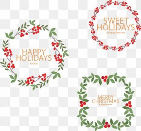 Vector Christmas Wreath - Christmas Tree Wreath Euclidean Vector PNG