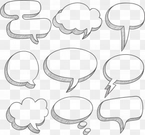 White Simple Cloud Dialog Box Border Texture - Speech Balloon Text Box Dialog Box PNG