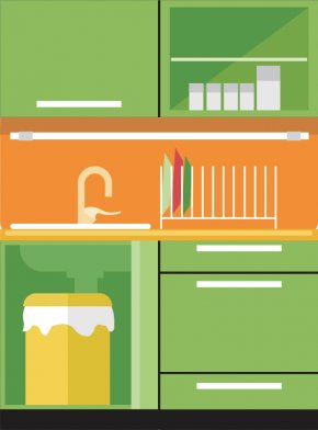 Kitchen Vector - Table Kitchen Furniture PNG