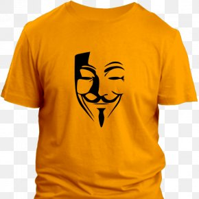 T-shirt - V For Vendetta Guy Fawkes Mask T-shirt PNG