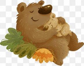 Bear - Bear Groundhog Sleep Clip Art PNG