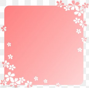 Cherry Blossom Border - Clip Art Image Vector Graphics Download PNG