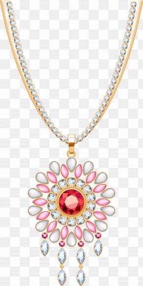 Ruby Necklace - Necklace Jewellery Pendant Gemstone Diamond PNG