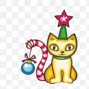 Christmas Kitten - Cat Kitten Christmas Vecteur PNG