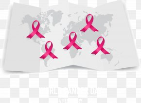 World Map Rose Red Ribbon - World Map PNG