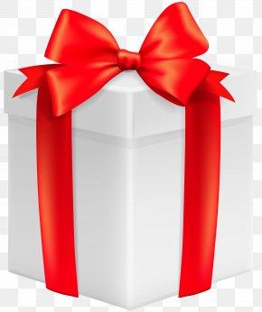 White Gift Box Clip Art Image - Gift Clip Art PNG
