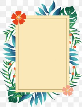 Romantic Summer Plant Borders - Picture Frame Poster PNG