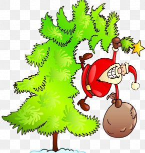 Tree Santa Claus - Santa Claus Christmas Tree Gift Illustration PNG