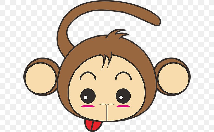 Monkey Cartoon Cuteness Png 640x506px Watercolor Cartoon Flower Frame Heart Download Free