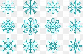 Christmas Blue Snowflake Collection - Snowflake Euclidean Vector Shape PNG