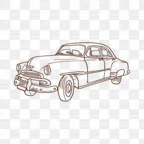 Automotive Artwork - Vintage Car Euclidean Vector PNG
