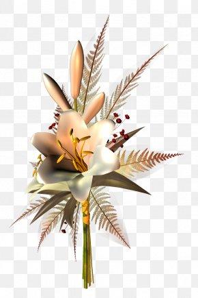 Bronze Flower Decoration Transparent Clipart - Flower Floristry PNG