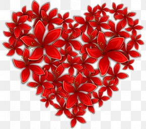 Heart - Heart Flower Valentine's Day Clip Art PNG
