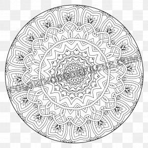 M Sanskrit Line ArtMandala Coloring Book - Mandala Coloring Book Black & White PNG