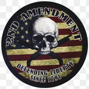 United States - Second Amendment To The United States Constitution Flag Of The United States Embroidered Patch PNG