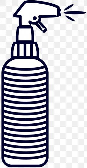 M Product Design - Clip Art Water Bottles Black & White PNG